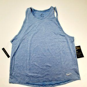 Nike Dri-fit Women's Running Tank Top Size XL Blue